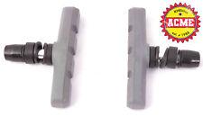 KHE ACME BMX Bremsschuhe mit Gewinde U-Bremse V-Bremse Einstellbar grau