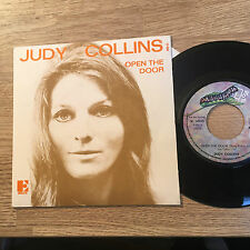"""French 7"""" picture sleeve Judy COLLINS Open the door / Innisfree 1971 Near MINT"""