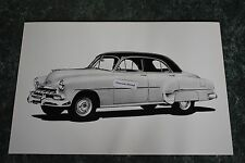 "12 By 18"" Black & White Picture 1952 Chevrolet Sedan 4 Door"