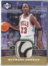 Michael Jordan 2004 05 UD Game Jerseys Patch Logos Bulls 3 Color patch