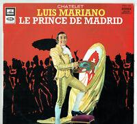 """33 tours Luis MARIANO Disque LP 12"""" LE PRINCE DE MADRID -VOIX DE SON MAITRE 1323"""