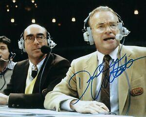 GFA NCAA Espn Basketball Animateur Dick Vitale Signé 8x10 Photo D5 COA
