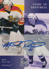 99-00 Gretzky Hockey SIGNS OF GREATNESS AUTO Mark PARRISH - Panthers