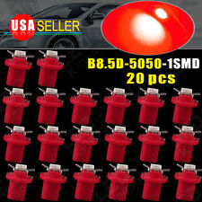 20X T5 Car Gauge B8.5D LED Speedo Dashboard Dash Wedge Side Light Bulb Lamp RED