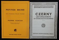 Lot (n°4) Partitions x2 recueils (CZERNY, Pièces, Exercices..) PIANO