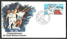 "FRANCE 1978 - Roland Garos  50th Anniv  "" Tennis ""  - 1v   , Yvert# 2012 -  FDC"