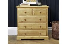 Traditional Pine Finished 3 + 2 Drawer Chest With Timeless Style