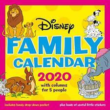 Disney Classics 2020 Mums Family Organiser Calendar - Official Square Wall  NEW