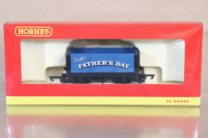 HORNBY R6803 HAPPY FATHERS DAY BLUE 7 PLANK OPEN WAGON MINT BOXED nz