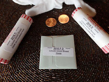 2 rolls 2016 P & D Lincoln Penny Union Shield Cent With Bonus Plus Free Shipping