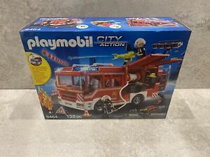 Playmobil City Action 9464 BRAND NEW 138 Pieces Fire Engine Truck Light & Sound
