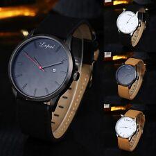 Neu Vintage Herrenuhr Date Militär Uhr Leder Armbanduhr Sport Quartz Army Watch