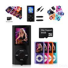 Mp3 Player 64Gb Max Media Video Radio Fm Voice Record Mp4 Digital LCD Screen