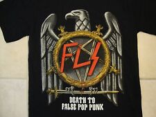 "FLS ""Death to False Pop Punk"" Eagle Punk Rock Tour Black T Shirt S"