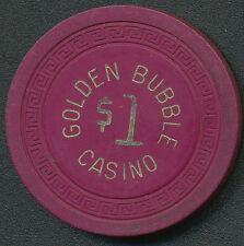 Golden Bubble Casino Gardnerville NV 1st Issue $1 Chip 1945