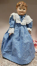 """OLD 17 1/2"""" Composition Head  on Leather Body Doll"""
