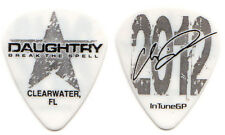 DAUGHTRY Guitar Pick : Chris 2012 Break the Spell Tour - Clearwater FL signature