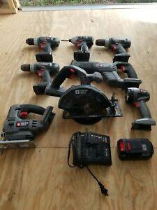Porter Cable cordless power tool set combo 18V Tools   *tested working READ*