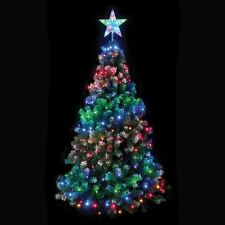 6ft 160 Multi Coloured LED Chasing Net Light With Star Your Tree Indoor Oudoor