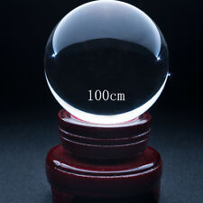"4"" (100mm) Clear Crystal Ball / Contact Juggling w/ Free Wooden Stand Feng Shui"