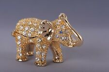 Mini Elephant trinket box - hand made  by Keren Kopal with Austrian crystals