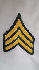 Vietnam War Era Sergeant Gold on Green Patch