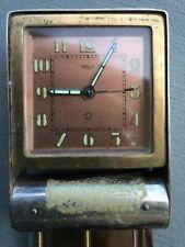 Vintage jaeger lecoultre alarm clock runs used