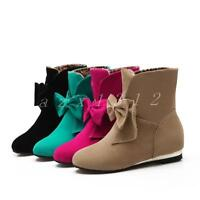 Hot Ladies Wedge Heels Faux Suede Shoes Womens Sweet Ankle Boots Hidden Boots