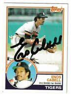 1983 Topps Enos Cabell Autographed Card - Detroit Tigers TTM - #225