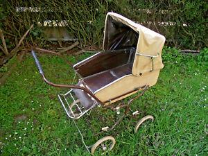 Original Korb Kinderwagen klappbar abnehmbare Schale Korbkinderwagen 70er Jahre