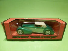 YESTERYEAR  1:43  MATCHBOX -  HISPANO SUIZA GREEN WHITE  - GOOD CONDITION IN BOX