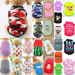 Summer Pet Dog Clothes Pet Cat Puppy Small Dog Camouflage Vest T Shirt Apparel