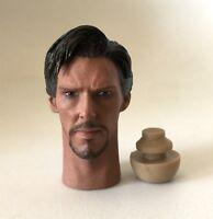 Custom Benedict Cumberbatch Doctor Strange 1/6 Head Sculpt for Hot Toys Body