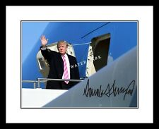 Donald Trump Signed 8x10 Photo Print Air Force One President United States USA