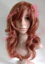 W29 Light Auburn Ginger Wavy Ladies Wig Synthetic Skin Top Natural Look - studio