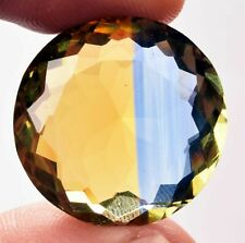 42.90 Cts. Natural Ametrine Blue & Yellow Round Cut Certified Gemstone