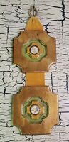 Vtg Gold Roman Style Wood Plaque Wall Hanging Home Decor Midcentury Man Cave bar
