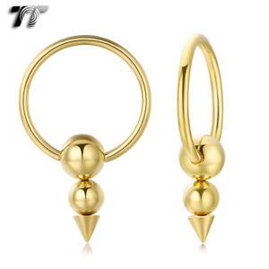 TT Gold Surgical Steel Hoop Earrings (BE287) NEW