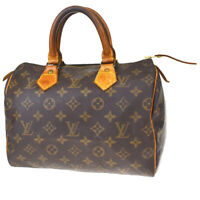 Authentic LOUIS VUITTON Speedy 25 Hand Bag Monogram Leather Brown M41528 31MD355