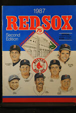 FOUR 1987 2ND EDITION RED SOX PROGRAMS SCORECARDS As JAYS MARINERS ROYALS