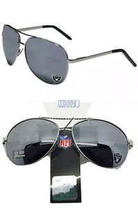 NFL Oakland Raiders Aviator Sunglasses - UV400