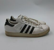 ADIDAS Vintage Campus 80s White/Black Size 10 US Classic Flat Sole Sneakers