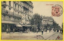 cpa Rare 75 - PARIS Bd VOLTAIRE à la Rue de la ROQUETTE Attelage Coll. FLEURY