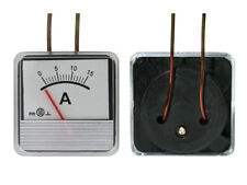 0- 15A DC Ammeter Amp Current Panel Meter Analogue Analog NEW 47mm x 47mm