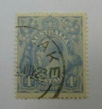 Australia  SC #33  KING GEORGE V   Four Pence used stamp