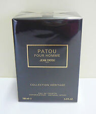 PATOU POUR HOMME BY JEAN PATOU COLLECTION HERITAGE MEN'S EDT 100 ml New in Box