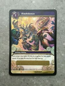 World of Warcraft TCG Slashdance Unscratched Loot Card Drums of War 1/3