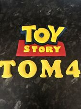 Toy Story Edible Badge  Logo Cake Topper Hand Made 3D Name And Age Icing