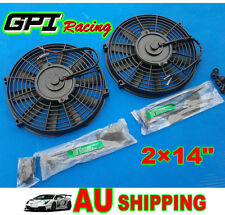 "2×14"" 14 inch Electric Radiator  Intercooler COOLING Fan + mounting kit"