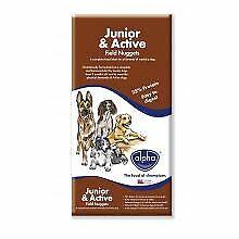 Alpha Junior & Active Field Nuggets Dry Dog Food - 15kg